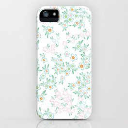 Forget me nots on white - in memory... iPhone Case