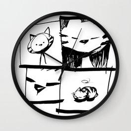 minima - IA - catnap Wall Clock