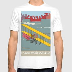 Wilbur and Orville Wright, 1903 (c) White Mens Fitted Tee MEDIUM