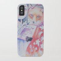kitsune iPhone & iPod Cases featuring kitsune kitsune by Eszter Nagy