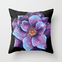 Galaxy in bloom Throw Pillow