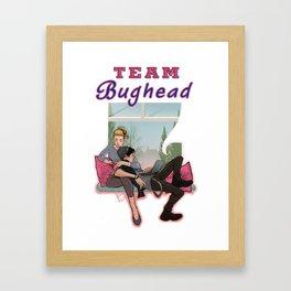 Team Bughead Framed Art Print