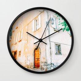 Orange Architecture Villa in Lake Como, Italy Wall Clock