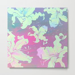 dream with lilies Metal Print