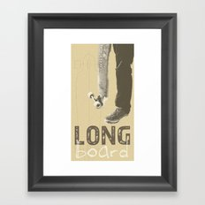 LONGBOARD. Framed Art Print