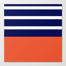 Summer Patio Perfect, Adobe Orange, White & Navy Canvas Print