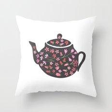 Tea Time Teapot Throw Pillow