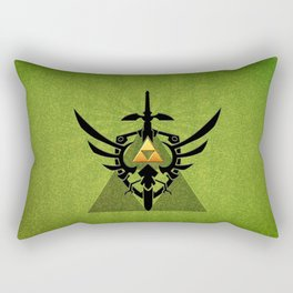 Zelda Link Triforce Rectangular Pillow