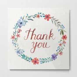 Thank you! Metal Print