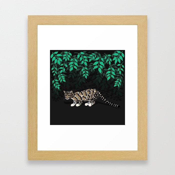 Clouded leopard Framed Art Print