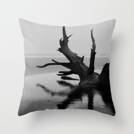 Bull Island Boneyard - Charleston, South Carolina Throw Pillow