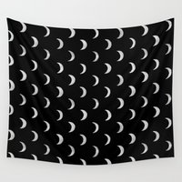 lunar Wall Tapestries featuring Lunar by bows & arrows