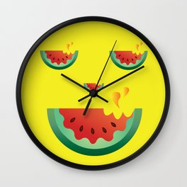 Watermelonween Face Wall Clock