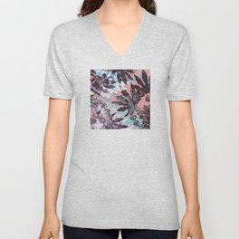 Tropical Adventure in Pink Unisex V-Neck