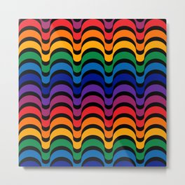 Spectrum Dips Metal Print