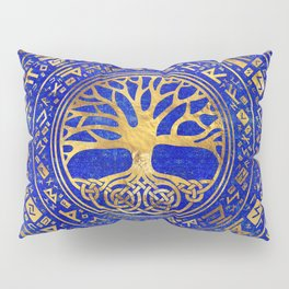 Tree of life -Yggdrasil - Lapis Lazuli Pillow Sham