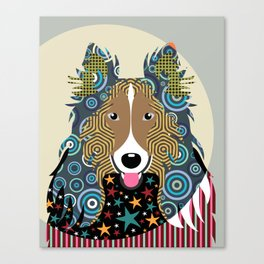 Rough Collie Canvas Print