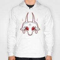 baphomet Hoodies featuring WANNABE BAPHOMET by fuggernuggets