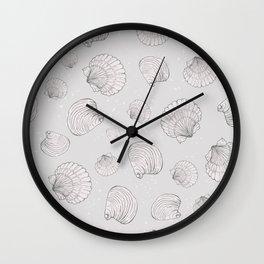 Elegant Sea Shell Art Wall Clock