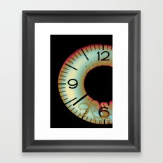 Time Waits For Nobody Framed Art Print