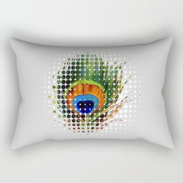 PEEKING PEACOCK Rectangular Pillow