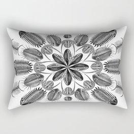 Trilobite and Fossil Mandala, Collage using Ernst Haeckel illustrations Rectangular Pillow