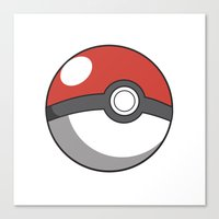 pokeball Canvas Prints featuring Pokeball ! by swiftstore
