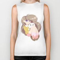 puppycat Biker Tanks featuring 2 cute 2 poot by Artfully Elyse