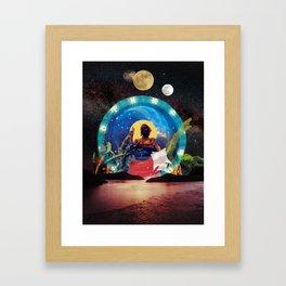 lunar tides of a Wombyn Framed Art Print