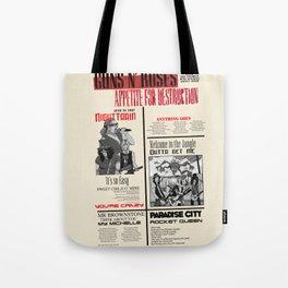 Guns N Roses Tote Bag