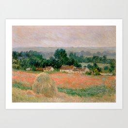 Haystack at Giverny Art Print