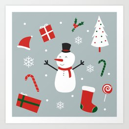 Yay Christmas! Art Print