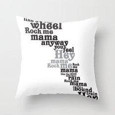 Rock Me Mama Throw Pillow