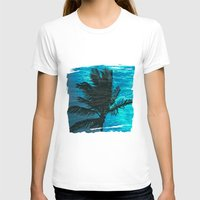 swimming T-shirts featuring Swimming Palm by Catspaws