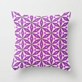 Floral geometric pattern Throw Pillow
