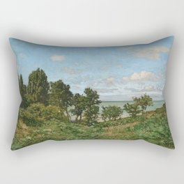 Claude Monet - Coastal landscape Rectangular Pillow