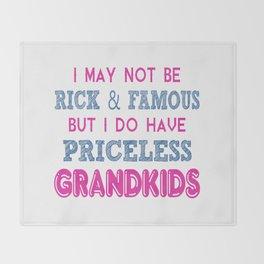 Priceless Grandkids Throw Blanket