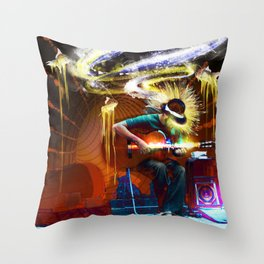 Guitar Zone Throw Pillow