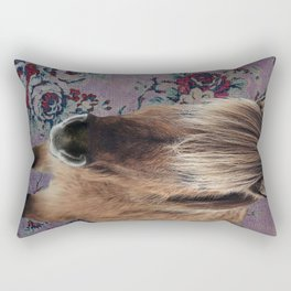 floral Icelandic pony Rectangular Pillow