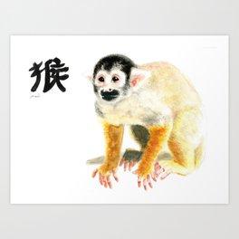 CHINESE ZODIAC (monkey )  Art Print