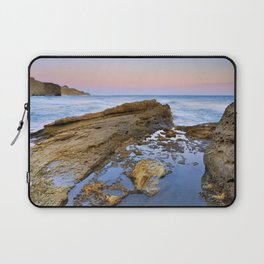 """Volcanic sea at pink sunset"" Laptop Sleeve"