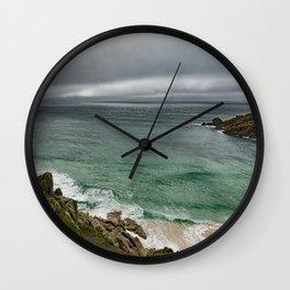 Stormy Cornish morning. Wall Clock