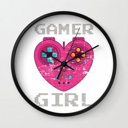 Gamer Girl Wall Clock