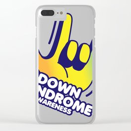 Down Syndrome Awareness Clear iPhone Case