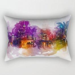 Toronto Canada Skyline Art Rectangular Pillow