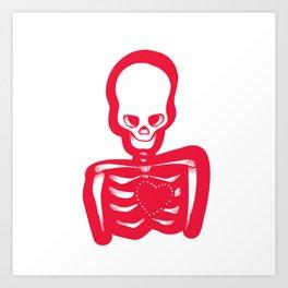 Missing heart Art Print