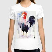 rooster T-shirts featuring Rooster  by Slaveika Aladjova