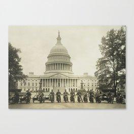 Vintage Motorcycle Police - Washington DC Canvas Print