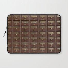 Vintage Library Card Catalog Drawers 2017 Calendar Laptop Sleeve