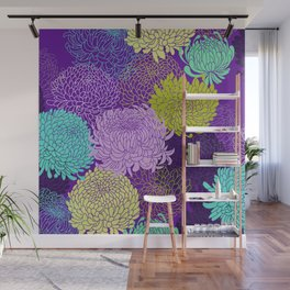 Chrysanthemum blossom Wall Mural